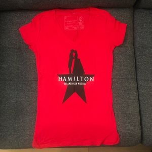 Red 'Hamilton an American musical' shirt